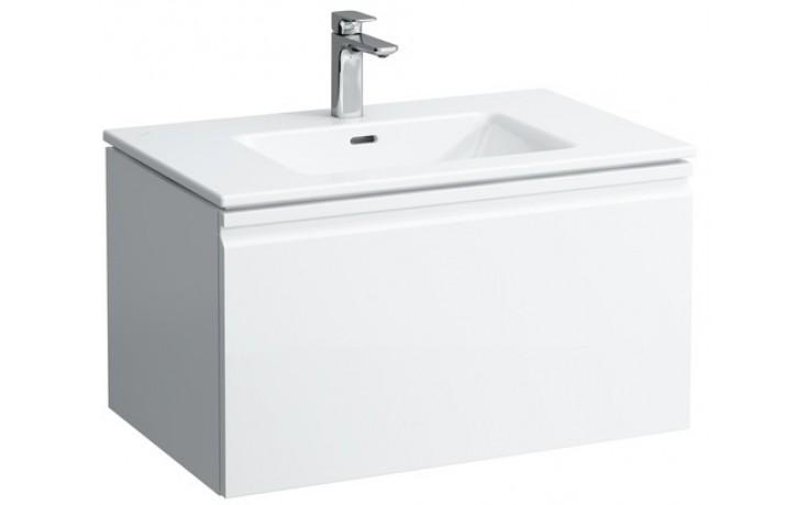 LAUFEN PRO S umyvadlo se skříňkou pod umyvadlo 800x500mm se zásuvkou, se sifonem, bílá lesk