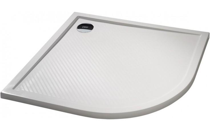HÜPPE PURANO vanička 800x900mm, čtvrtkruh, litý mramor, bílá