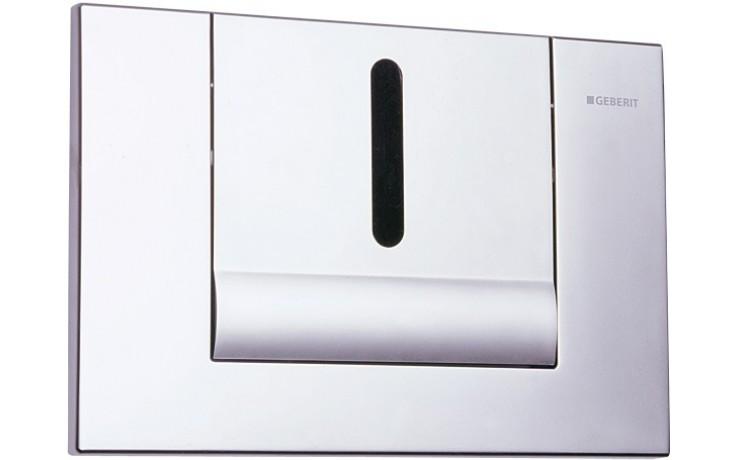 SANELA SLW02GT splachovač WC 24V DC, automatický, s elektronikou ALS, pro montážní rám Geberit, tlačítko TANGO