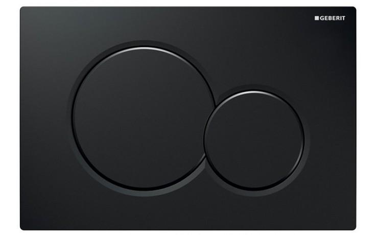 GEBERIT SIGMA 01 ovládací tlačítko 24,6x16,4cm, černá RAL 9005, 115.770.DW.5