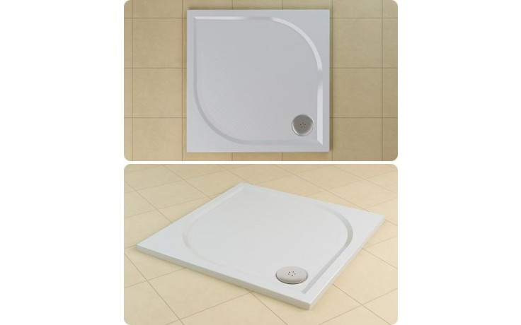SANSWISS MARBLEMATE WMQ vanička 800x800x30mm, čtverec, bílá