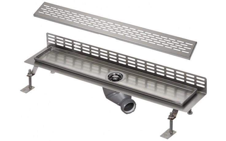 SANELA SLKN07EX koupelnový žlábek 950mm ke stěně, nerez mat