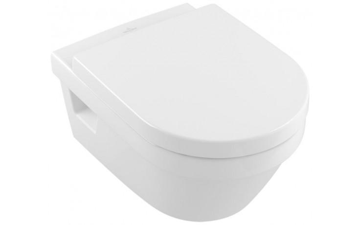 VILLEROY & BOCH OMNIA ARCHITECTURA klozet 370x530mm s hlubokým splachováním a DirectFlush, Bílá Alpin CeramicPlus