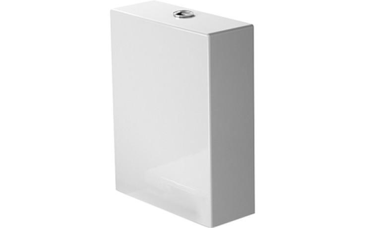 DURAVIT STARCK 2 splachovací nádrž 370x145mms Dual-Flush, bílá/chrom 0933000085