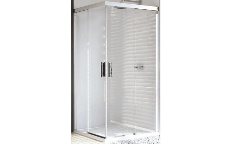 Zástěna sprchová čtverec Huppe sklo Design pure 1000x1000x1900 mm stříbrná matná/čiré AP