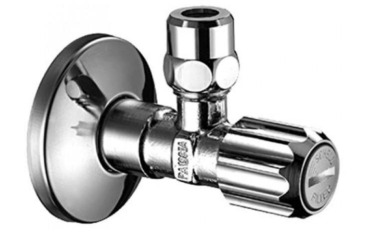 SCHELL rohový ventil DN15 s normálním filtrem, chrom 049490699