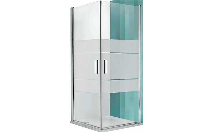 ROLTECHNIK TOWER LINE TCO1/800 sprchové dveře 800x2000mm jednokřídlé, bezrámové, stříbro/transparent