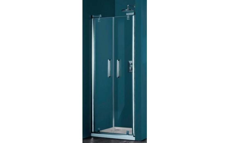 Zástěna sprchová dveře Huppe sklo Refresh pure Akce 800x2043 mm titanová stříbrná/Karo AP