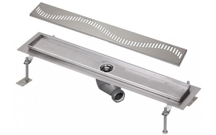 SANELA SLKN06AX koupelnový žlábek 750mm ke stěně, nerez mat