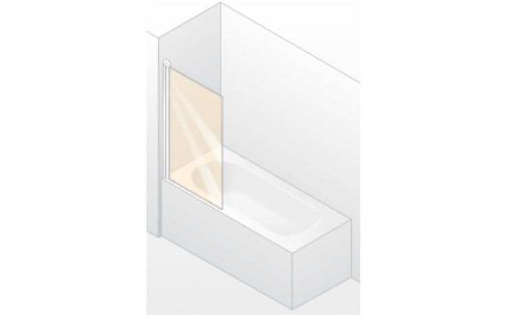 Zástěna vanová Huppe - Design Elegance 730x1500mm stříbrná lesklá/čiré AP