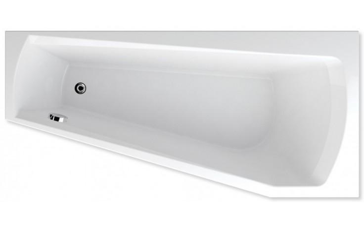 TEIKO HARMONY P vana 160x75x42cm, rohová, akrylát, bílá