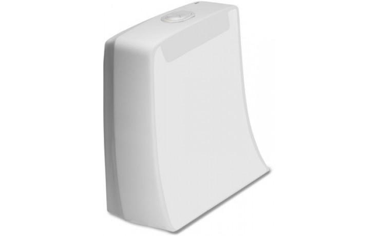 Nádržka keramická Roca s armaturou úspornou Khroma spodní levý přívod, Dual Flush 3/6 l bílá-maxiClean 7.3416.5.000.M