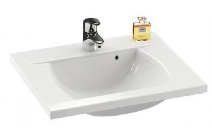 RAVAK CLASSIC 600 umyvadlo nábytkové 600x490x207mm z litého mramoru, bílá XJD01160000