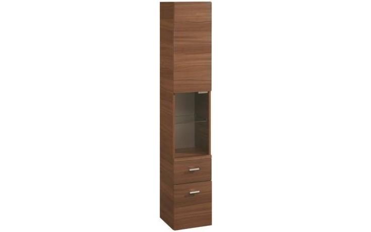 Nábytek skříňka Ideal Standard Connect vysoká levá 30x33x175 cm vlašský ořech - tmavý