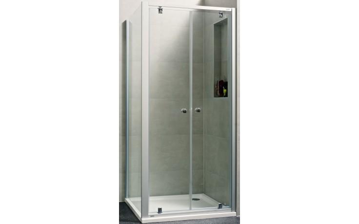 Zástěna sprchová dveře - sklo Concept 100 NEW, lítací 800x1900 mm stříbrná matná/čiré AP