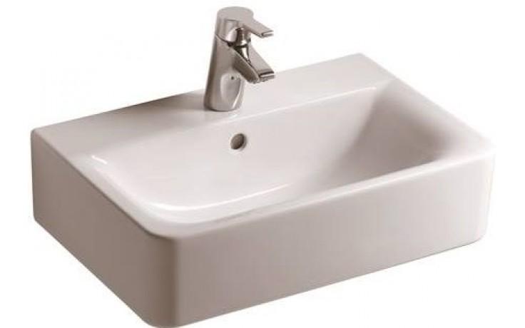 Umyvadlo klasické Ideal Standard s otvorem Connect Cube Short 55x37,5 cm bílá + IdealPlus