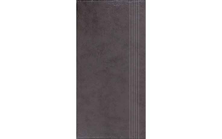 RAKO CLAY schodovka 30x60cm hnědá DCPSE641