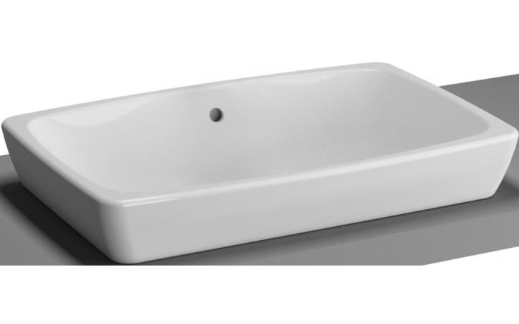 Mísa umyvadlová Vitra bez otvoru Metropole bez přepadu 60x40 cm bílá