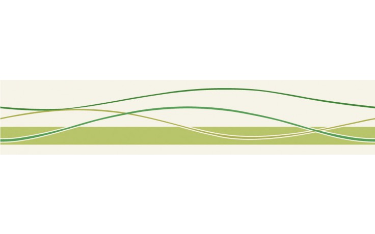 VILLEROY & BOCH PLAY IT! listela 10x50cm, green 1526/PI55