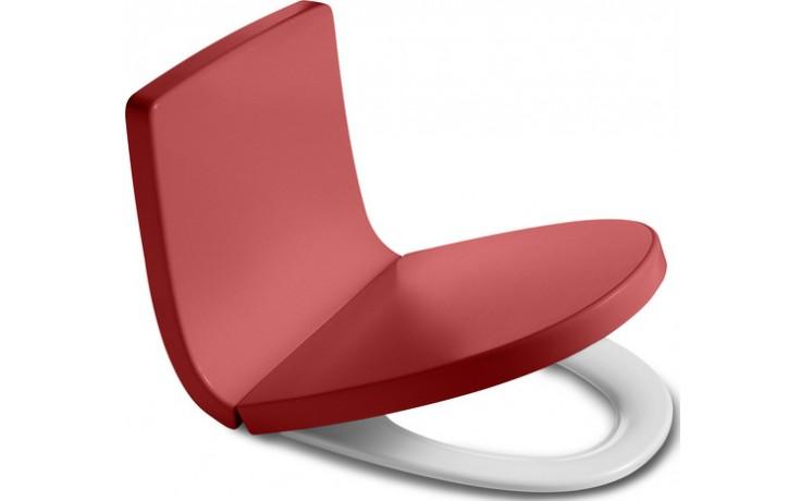 ROCA KHROMA klozetové sedátko s poklopem, Slowclose, s antibakteriální úpravou, Passion Red