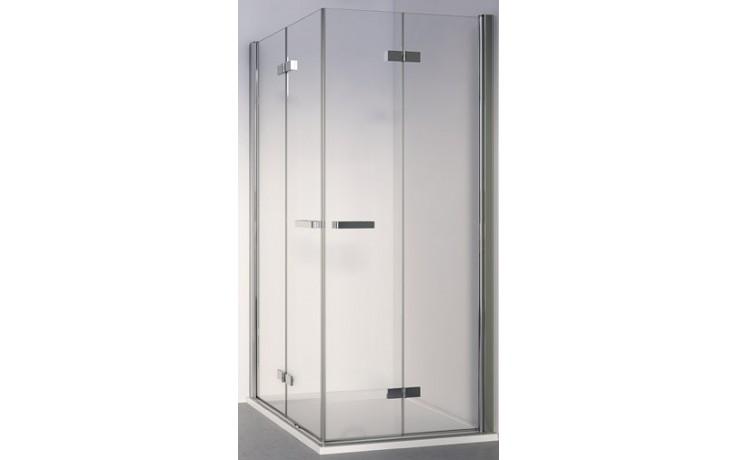SANSWISS SWING LINE F SLF2D sprchové dveře 800x1950mm dvoudílné, pravý díl pro skládací dveře, aluchrom/čiré sklo