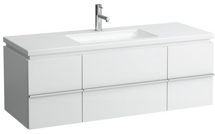 LAUFEN CASE skříňka pod umyvadlo 1295x475x460mm se 2 zásuvkami, bílá lesk 4.0131.2.075.464.1
