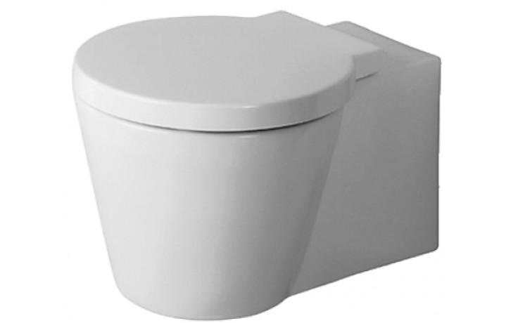WC závěsné Duravit odpad vodorovný Starck 1 s hlubokým splachováním 41x57,5 cm bílá