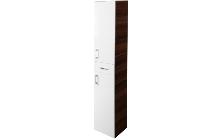 CONCEPT 50 skříňka vysoká 35x35,2x183,9cm závěsná levá, bílá/švestka