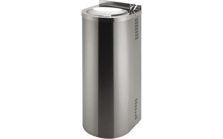 SANELA SLUN43 pitná fontána 350x360x840mm, ke stěně, s tlačnou pitnou armaturou, nerez