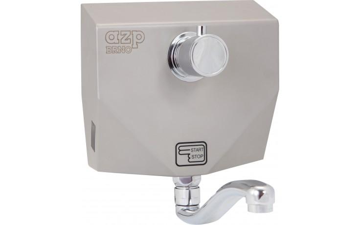 """AZP BRNO AUM 8.TVB umyvadlová baterie G1/2"""" s termostatickým ventilem, nástěnná, automatická, nerez"""