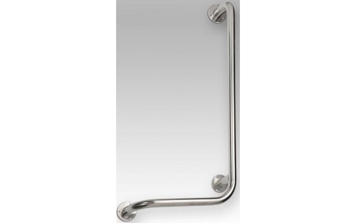 AZP BRNO REHA nástěnné madlo 406x117x813mm, 90, do sprchy pravé, bílá