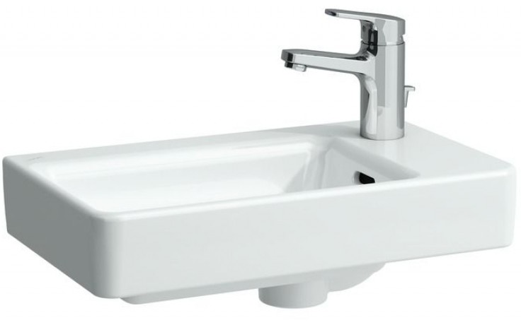 LAUFEN PRO S umývátko asymetrické 480x280mm bez otvoru, pravé, bílá 8.1595.4.000.109.1