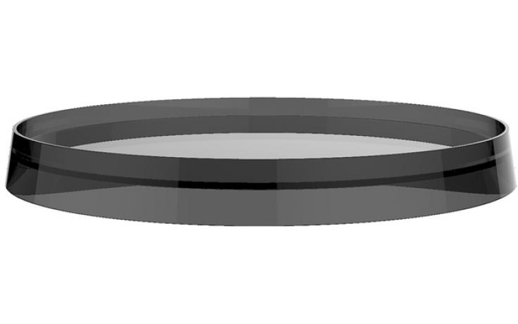 LAUFEN KARTELL BY LAUFEN plastový disk 183mm pro umyvadlové a bidetové baterie a držák toaletního papíru/nástěnnou poličku, kouřová 3.9833.5.085.001.1