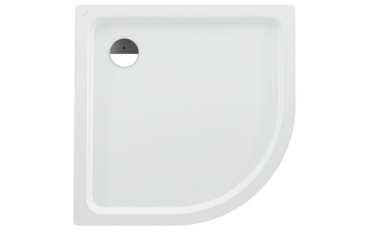 LAUFEN PLATINA sprchová vanička 1000x1000mm ocelová, čtvrtkruhová, s protihlukovou izolací, bílá 2.1501.9.000.040.1