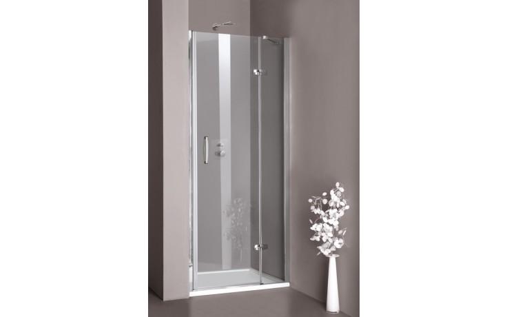 Zástěna sprchová dveře Huppe sklo Aura elegance 900x1900mm stříbrná lesklá/Intima AP