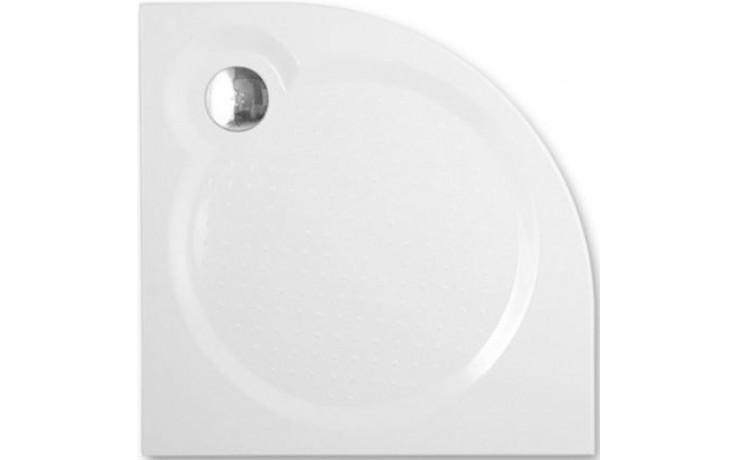 ROLTECHNIK TAHITI-M sprchová vanička 900x900x30mm R550 mramorová, čtvrtkruhová, bílá