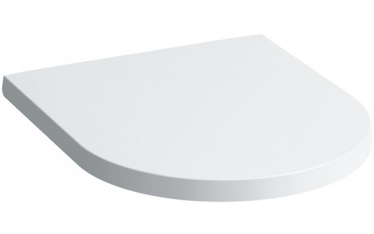 LAUFEN KARTELL BY LAUFEN sedátko s poklopem 443x376x30mm odnímatelné, zpomalovací sklápěcí systém, bílá 8.9133.1.000.000.1