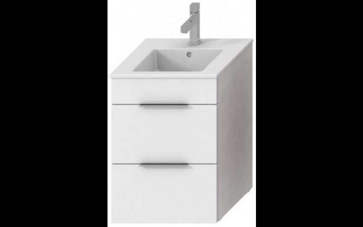 JIKA CUBE skříňka s umyvadlem 450x430x607mm, bílá/bílá 4.5362.2.176.300.1