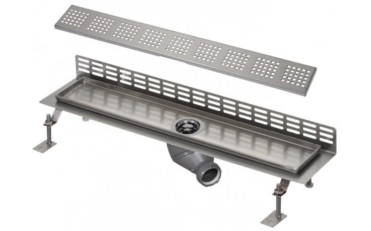 SANELA SLKN06FX koupelnový žlábek 750mm ke stěně, nerez mat
