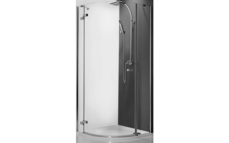 ROLTECHNIK ELEGANT LINE GRL1/1000 sprchový kout 1000x2000mm levý, čtvrtkruhový, s jednokřídlými otevíracími dveřmi, bezrámový, brillant/transparent