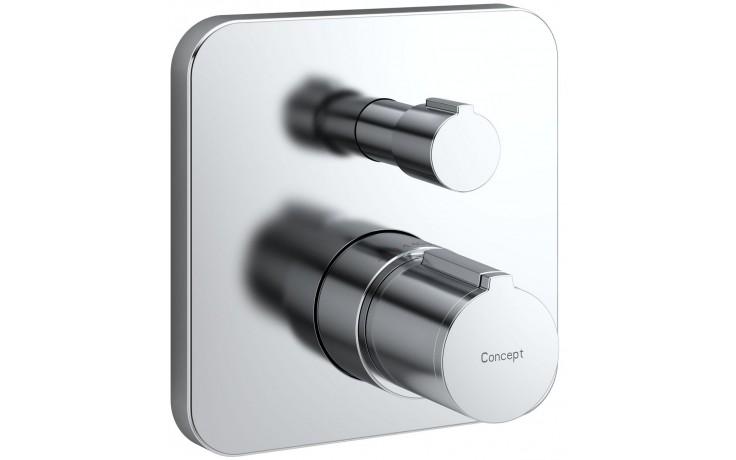 Baterie sprchová - podomítková termostatická Concept 200 NEW nadomítková část  chrom