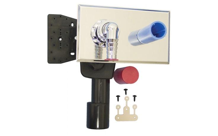 HL zápachová uzávěra DN40/50 podomítková vodní, pro pračky, myčky, nerez ocel/polyethylen