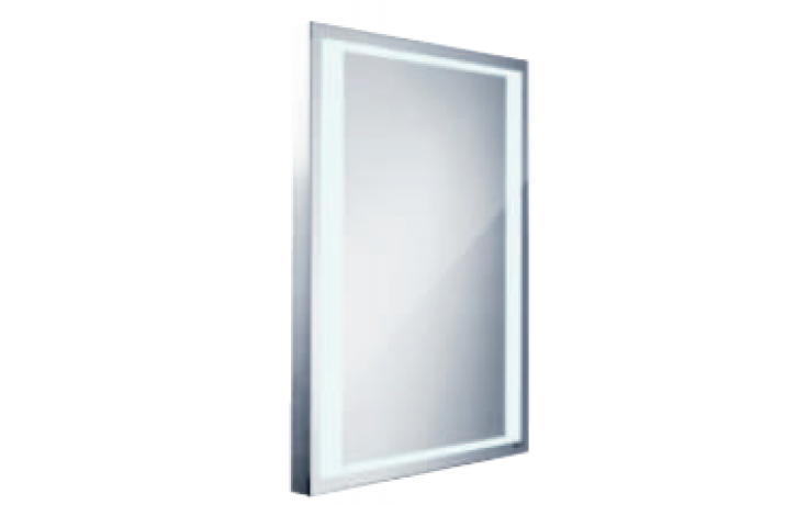 Nábytek zrcadlo Nimco s LED osvětlením 60x80 cm hlíníkový rám