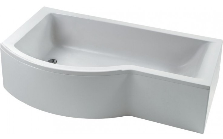 IDEAL STANDARD CONNECT vana 1695x895/695x390mm, s rozšířenou zónou pro sprchování, levá, akrylátová, včetně přepadu Ideal Waste, bílá