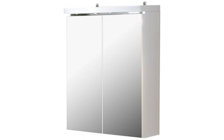 CONCEPT 50 zrcadlová skříňka 52,4x25x62,8cm se zásuvkou a vypínačem, bílá