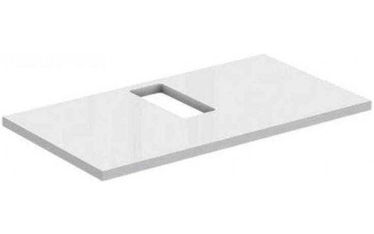 IDEAL STANDARD STRADA vrchní deska 800mm, výřez uprostřed, lesklý lak bílý K2662WG