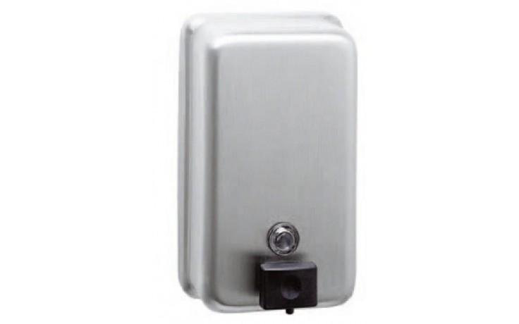 Doplněk dávkovač - Bobrick na tekuté mýdlo se zámkem 90x121x206 mm/1,2 l matný nerez