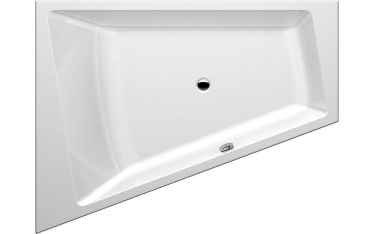 Vana plastová GKI tvarovaná Memo polorohová, levá, se sprchovou zónou 175x135/70x45 cm bílá