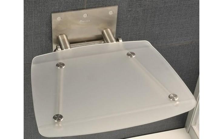 Doplněk sedátko do sprchy Ravak OVO-B-CLEAR  čiré