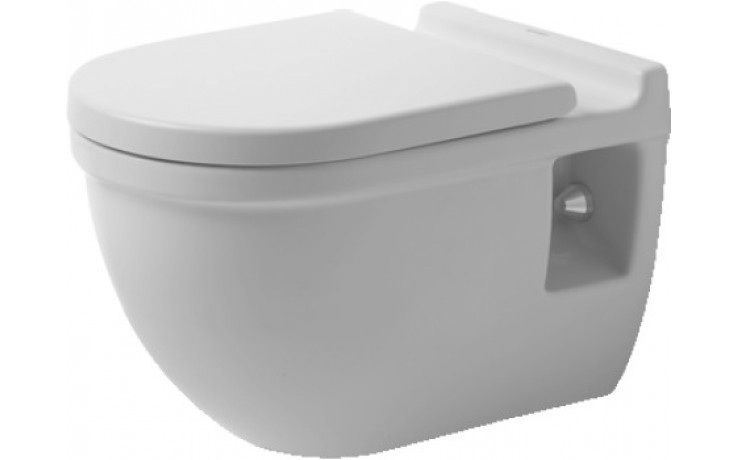 WC závěsné Duravit odpad vodorovný Starck 3 s hlubokým splachovaním 36x54,5 cm bílá